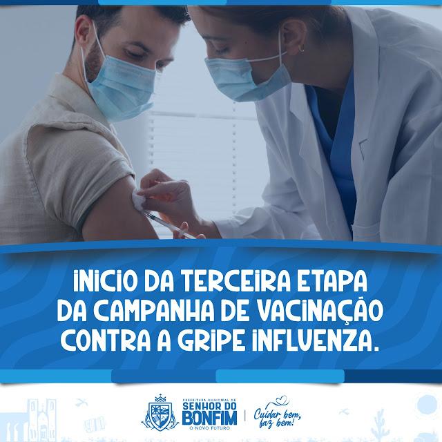 PREFEITURA DE BONFIM INICIA A TERCEIRA FASE DA VACINAÇÃO CONTRA INFLUENZA