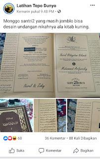 Undangan pernikahan ala kitab kuning
