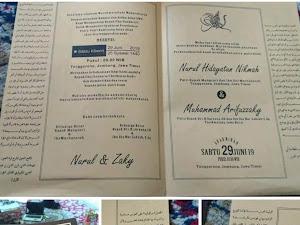 Desain Undangan Pernikahan Ala Kitab Kuning yang Bikin Baper Santri