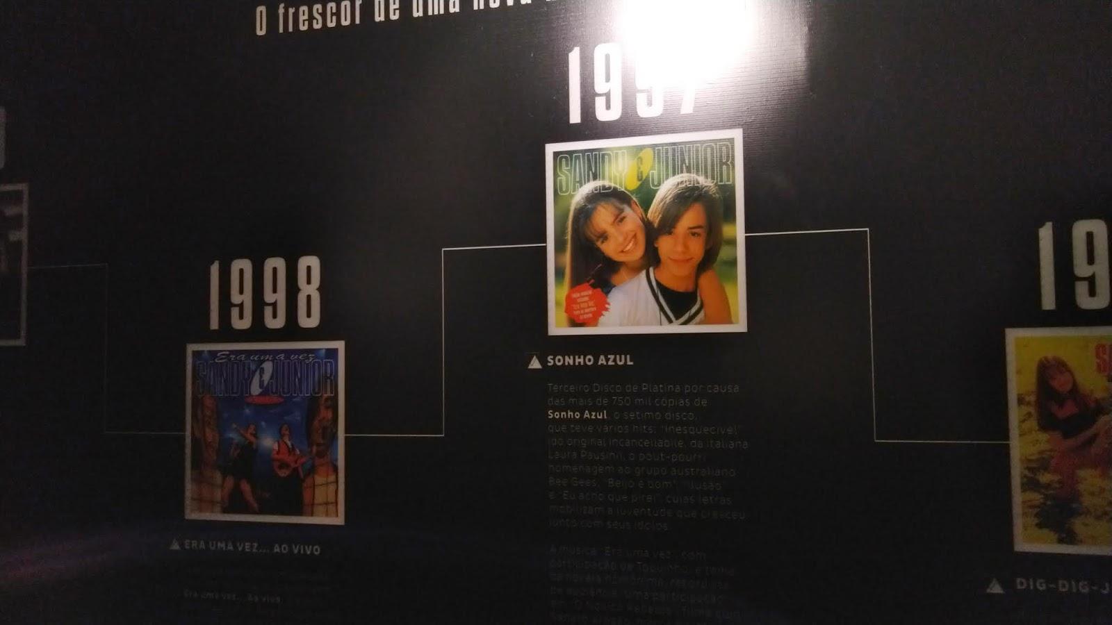 exposição sandy e júnior no anália franco