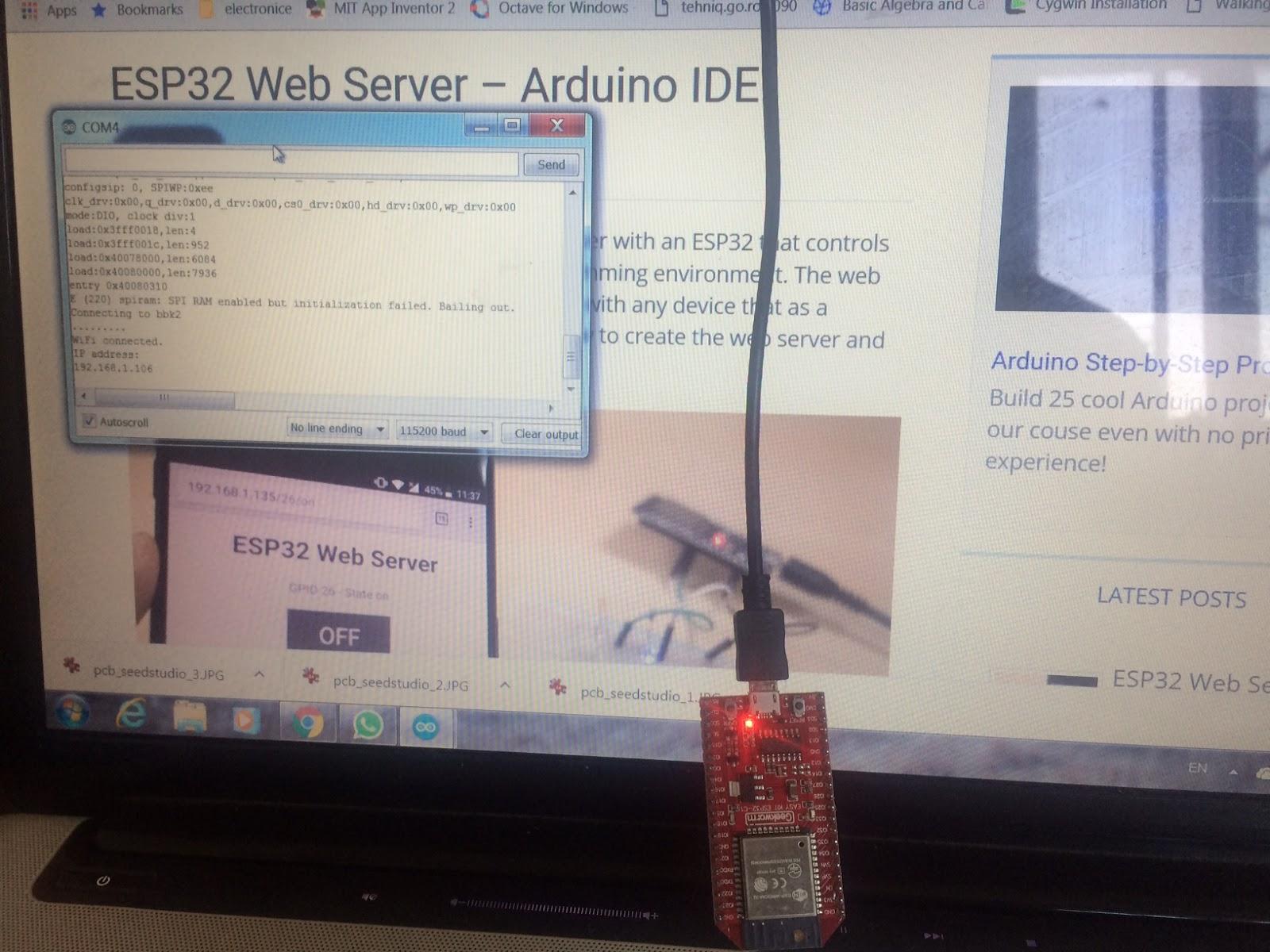 Arduino tehNiq: WebServer with ESP32