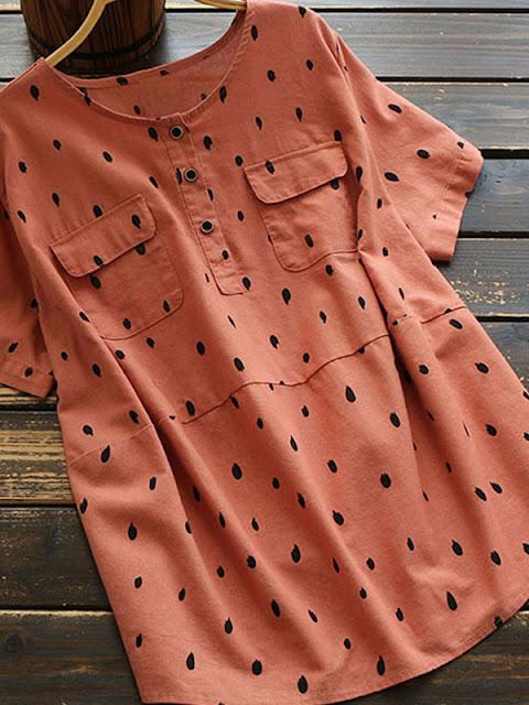 Polka Dot Shirts & Blouses