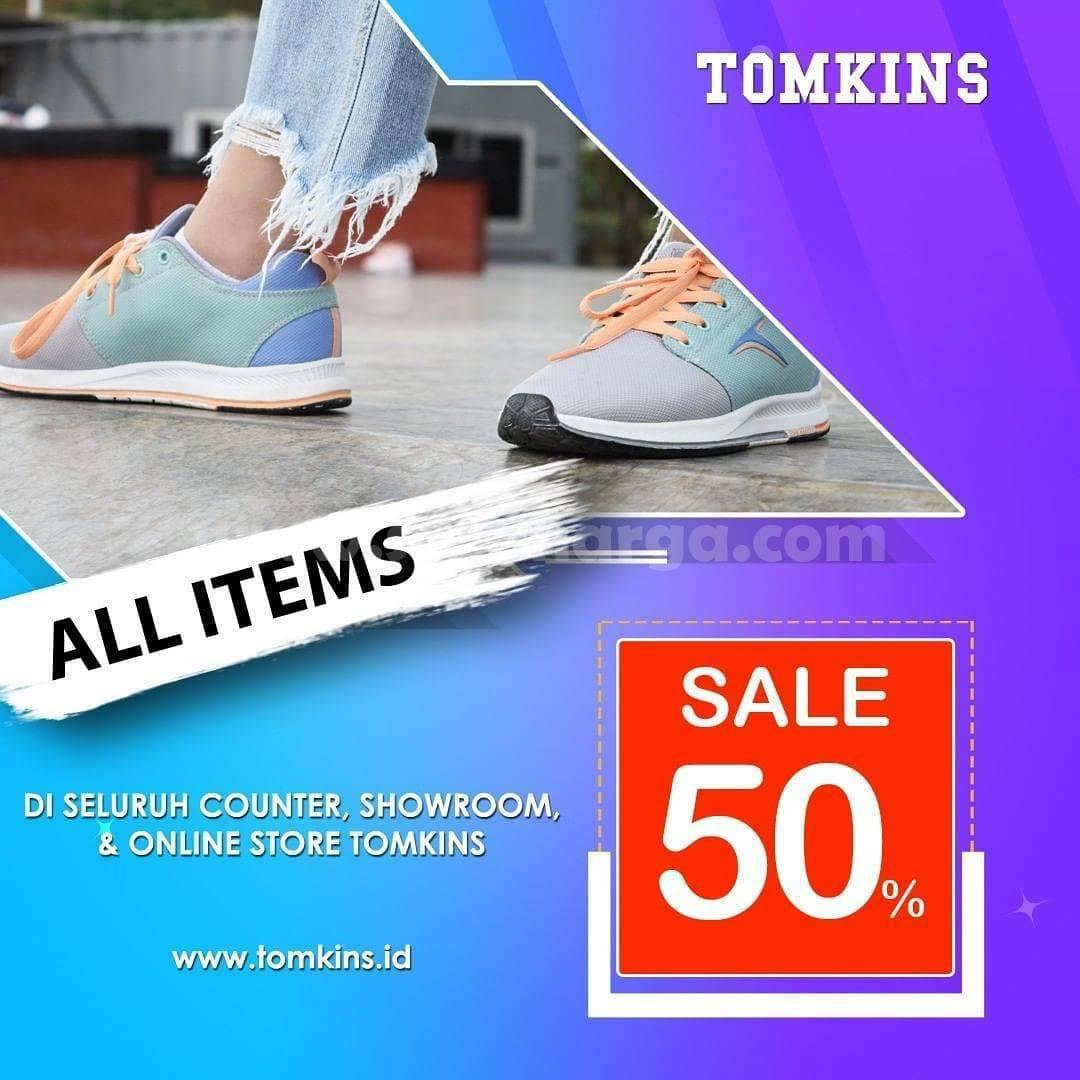 Promo Tomkins DISKON 50% All Items