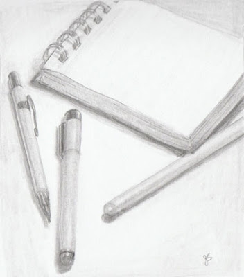 G Sivitz, sketch, drawing, graphite, sketching materials, pencil, notepad, art