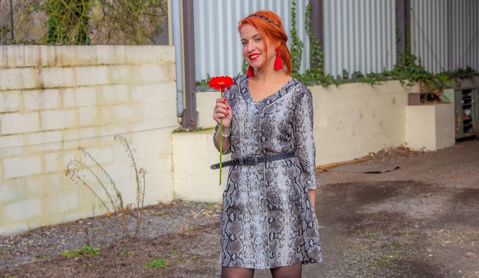 Oser la robe python pour la Saint-Valentin