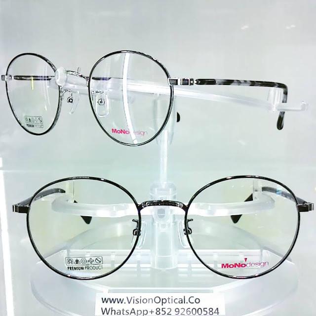 Mono Design 韓國復刻梨形雕花邊眼鏡