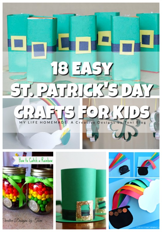 My Life Homemade 18 Easy St Patricks Day Crafts For Kids