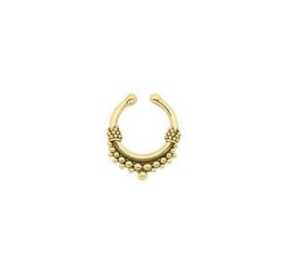 JUMANA MINI. Gold Septum Ring - Clip
