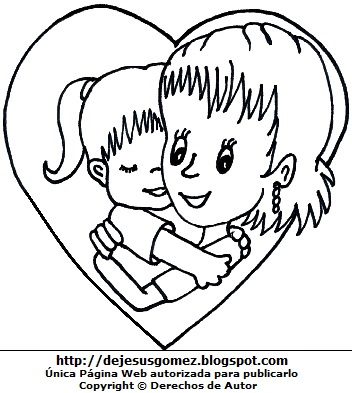 Madre E Hija Dibujo Para Colorear Imagesacolorierwebsite