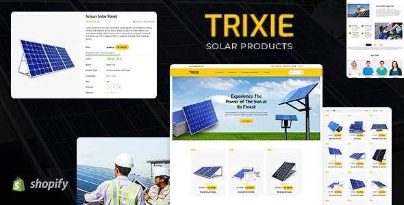 Best Solar Responsive Shopify Template