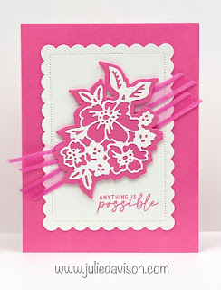 Stampin' Up! 2021-2023 In Color Cards using Penned Flowers and Scalloped Contours Dies ~ Polished Pink ~ www.juliedavison.com #stampinup #incolor