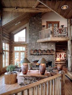 sala decorada estilo rústico