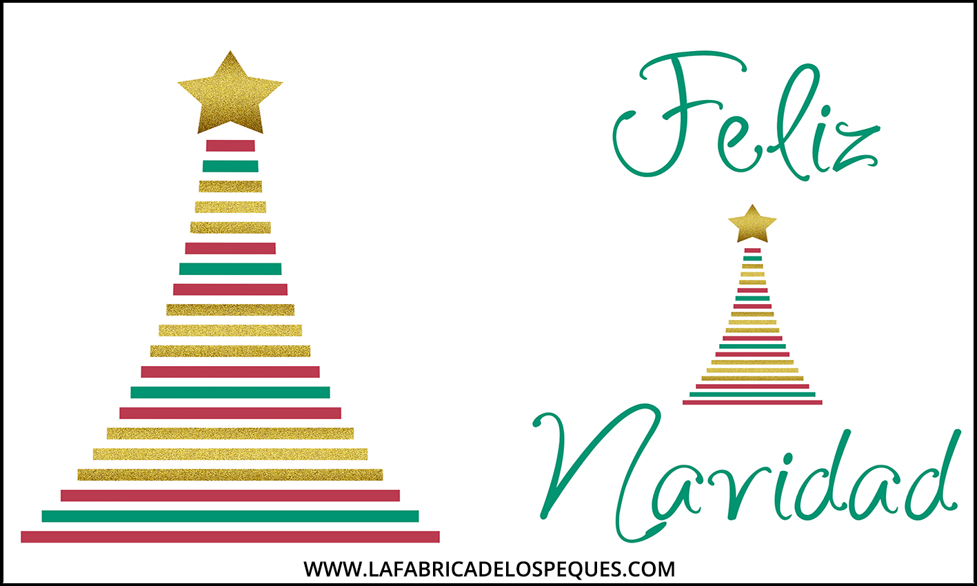 Imprimibles gratis: Postales navideñas - La fábrica de los peques