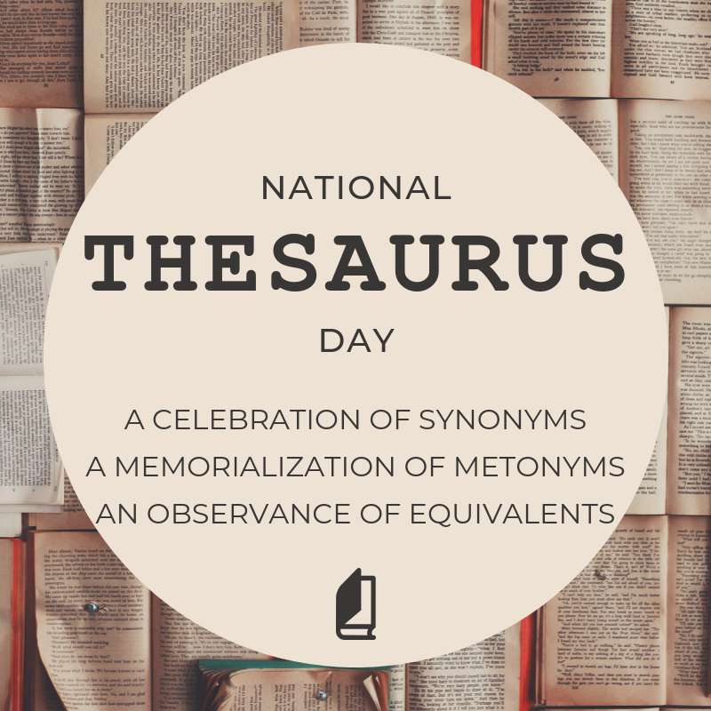 National Thesaurus Day Wishes Images download