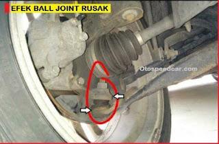 efek ball joint mobil rusak