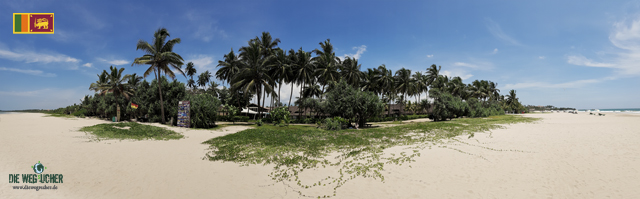Weltreise in Sri Lanka, Bentota Beach Panorama