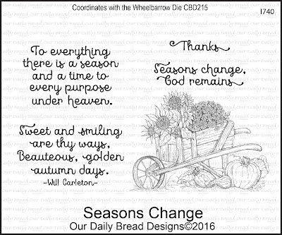 Our Daily Bread Designs Stamp Set: Seasons Change