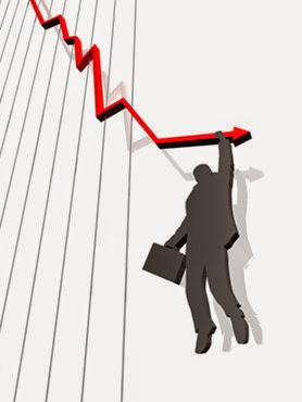Gráfica de una crisis económica