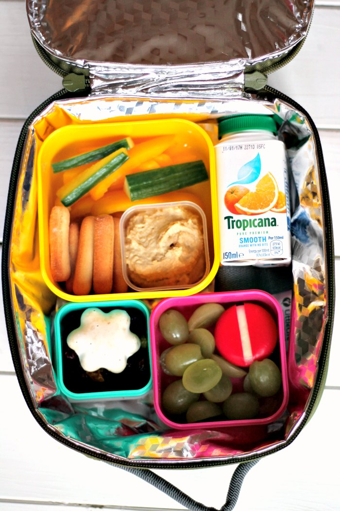 Lunchbox with Tropicana Little Bottle