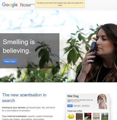 Poisson d'Avril 2013 de Google : Google Nose