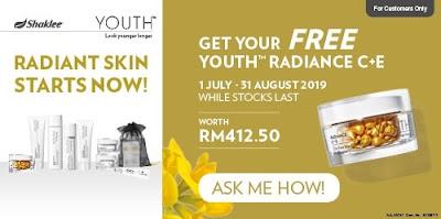 Youth Skincare Percuma Radiance C + E