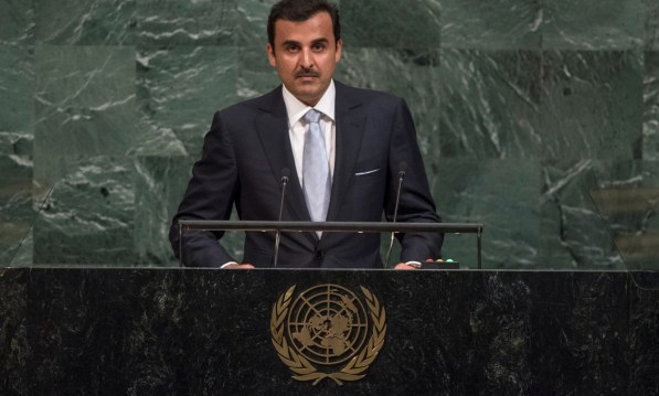 "At UN, Emir of Qatar calls for ""unconditional dialogue"" to end crisis"