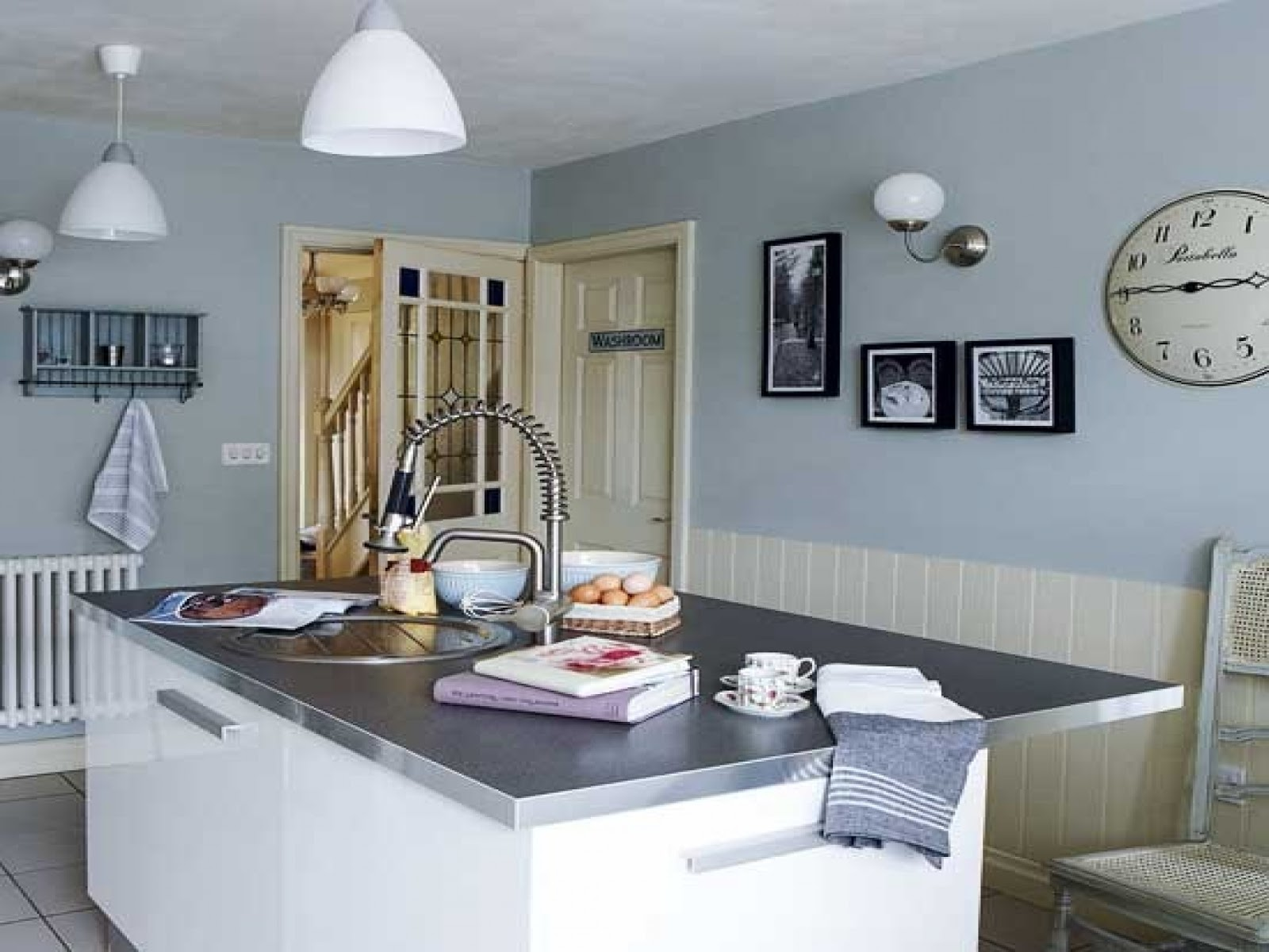 Blue In Kitchen Blue Kitchen Walls You 39ll Feel More Comfortable When