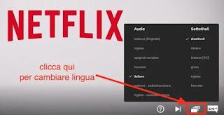 lingua netflix sottotitoli e audio computer