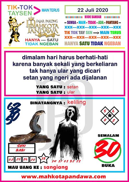Syair Mahkota Pandawa SGP Rabu