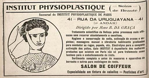 Propaganda antiga de centro de beleza e estética no Rio de Janeiro em 1916