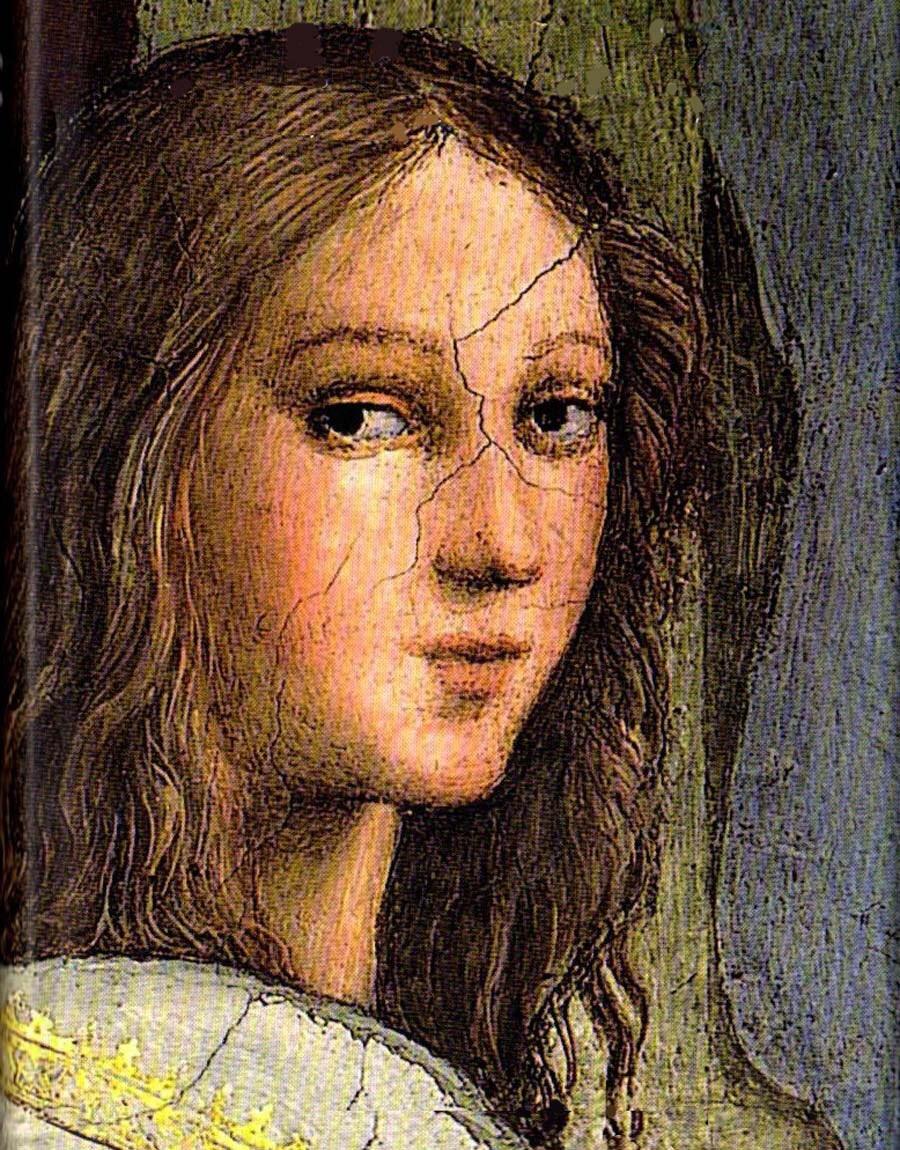 Hipácia de Alexandria, pormenor do quadro A Escola de Atenas