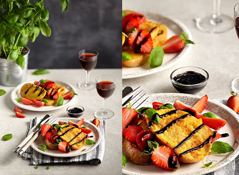 Wytrawne tosty (nie) francuskie z truskawkami, bazylią i sosem balsamicznym