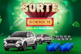 Promoção Lojas Koerick 2017 sorte Koerick Carros Motos TVS 55 4K
