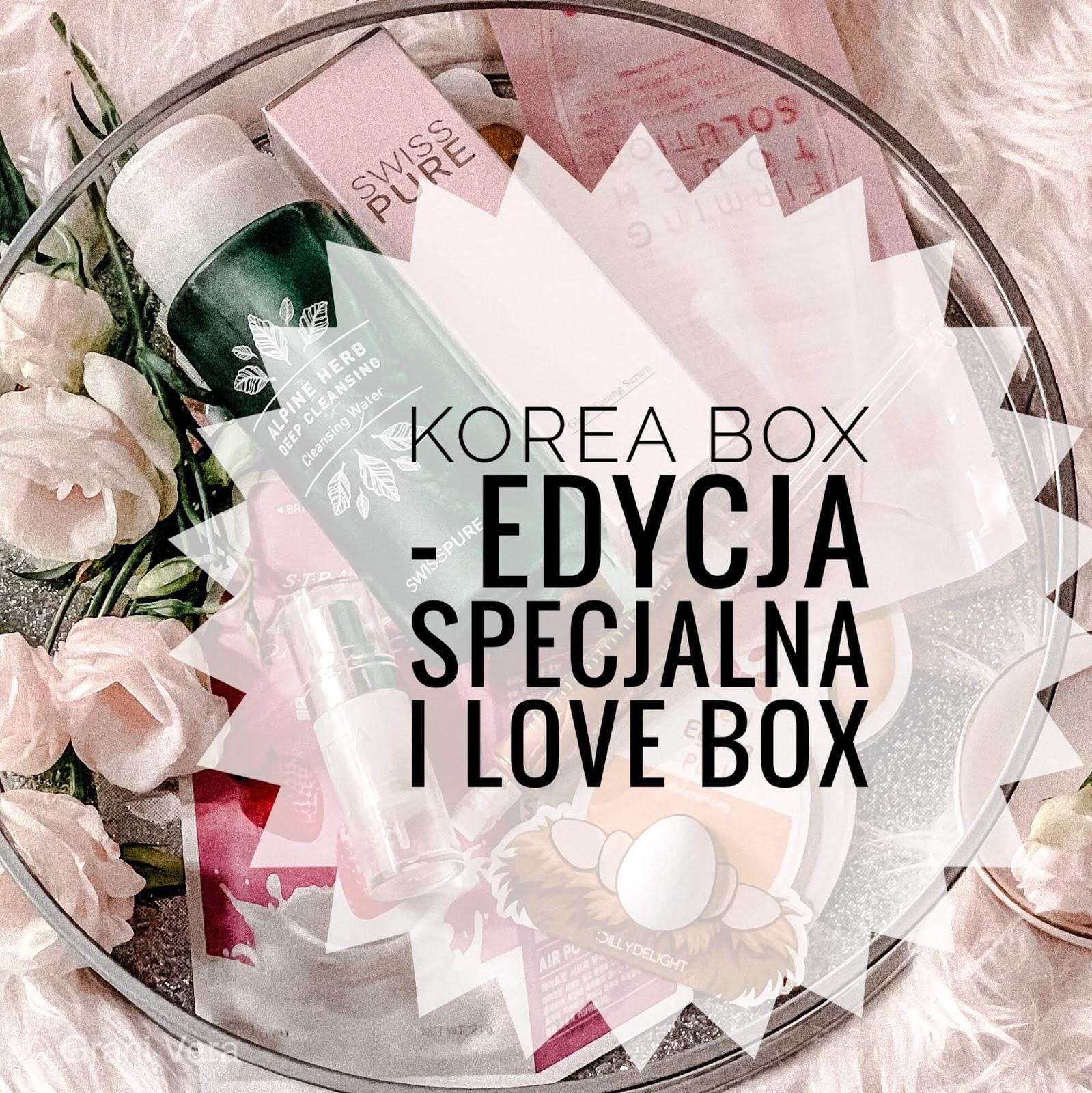 KOREA BOX LIMITOWANA EDYCJA I LOVE BOX