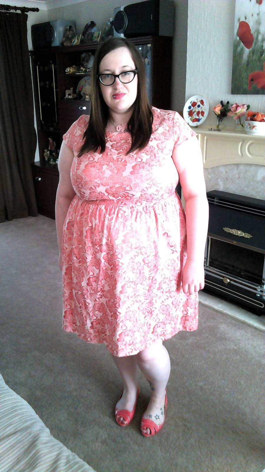 Simply Be Pink Jacquard Prom Dress - Does My Blog Make Me ...