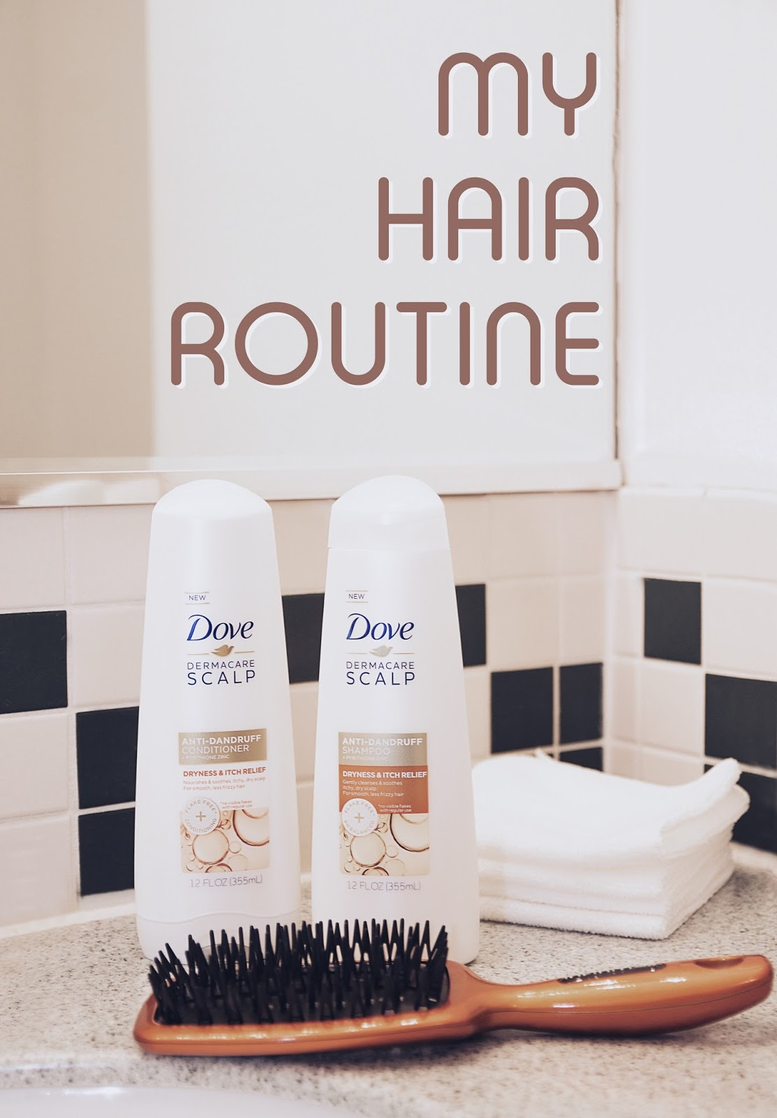 My Hair Routine ft. Dove DermaCare Scalp Dryness & Itch Relief Shampoo and Conditioner by Mari Estilo