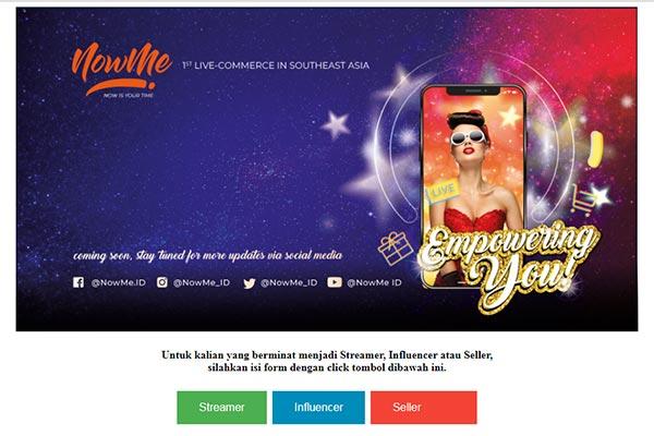 Aplikasi NowMe Live Commerce Pertama di Asia Tenggara