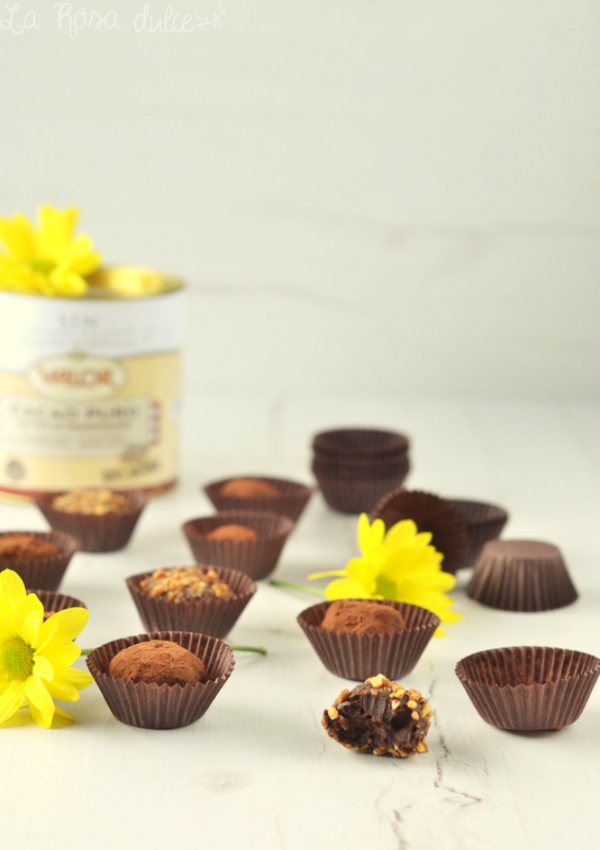 Trufas de chocolate sin lactosa