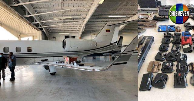 Jet venezolano con muchas armas y dinero en efectivo fue incautado en Estados Unidos