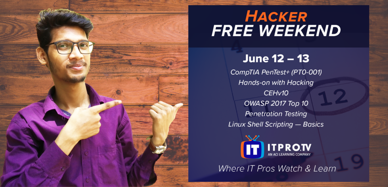 These courses are free on ITProTV this weekend
