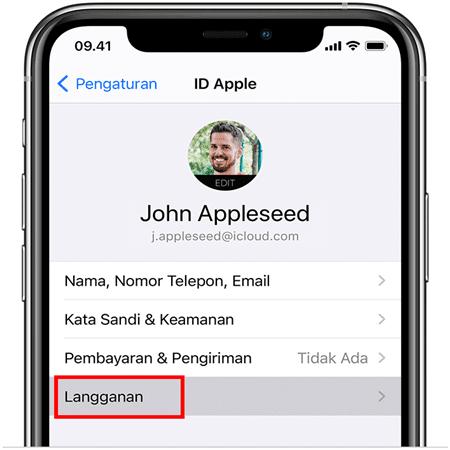 berhenti langganan get contact di iphone ios