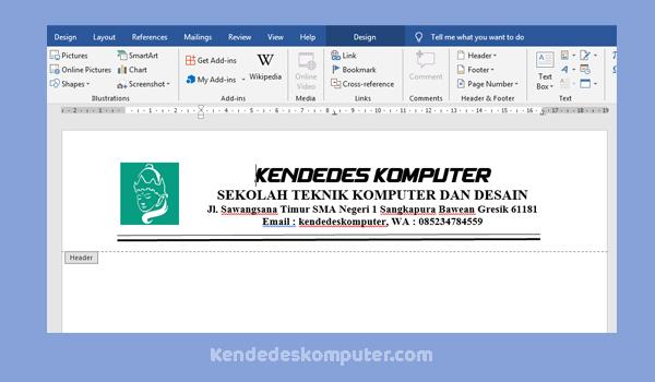 Cara Membuat Kop Surat Di Microsoft Office Word 2016 Dengan Logo