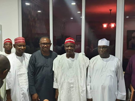 Kwankwaso Meets Atiku and Peter Obi In Abuja (Photos)
