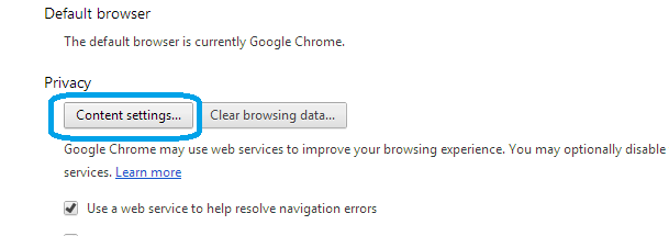Content Setting Google Chrome: Intelligent Computing