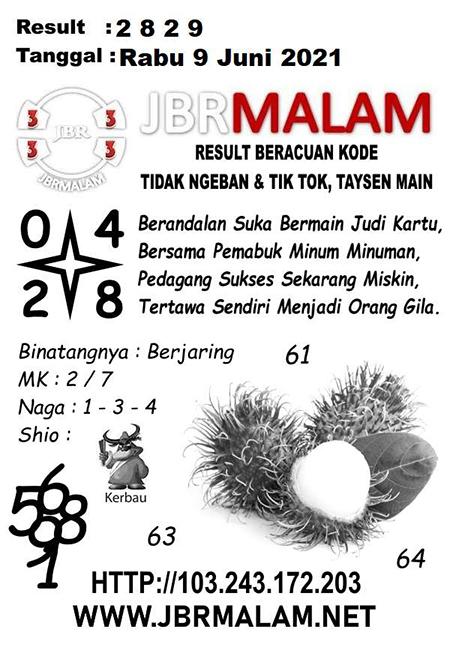 JBR Malam HK Rabu 09 Juni 2021