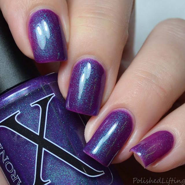 purple polish with pegasus pee