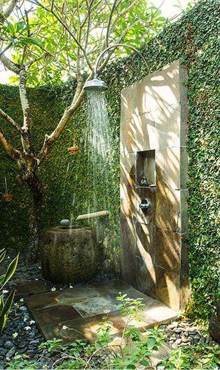 ห้องอาบน้ำกลางแจ้งแนวธรรมชาติ
