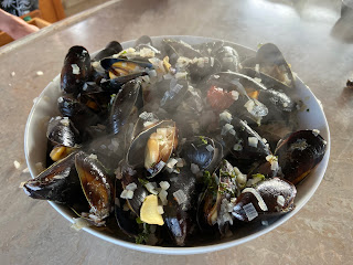 Mussels purchased at Westcott Bay Shellfish Co.