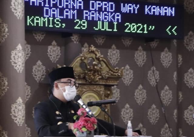 DPRD Waykanan Gelar Rapat Pertanggungjawaban APBD 2020
