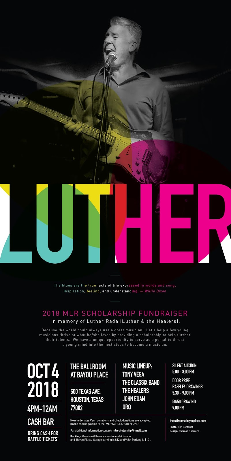 luther and the healers memorial scholarship fundraiser october 4